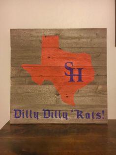 San Houston State University Custom Reclaimed Wood Sign By Major Co Designs