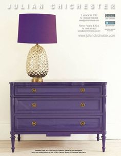Currently lusting after...a purple sideboard