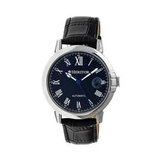 Men's Heritor Automatic HR2302 Laudrup Watch Crocodile Leather//Blue