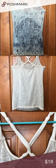 Blue and off white Maurice's Tank Top Light, perfect for summer. 50% polyester 38% cotton 12% rayon Maurices Tops Tank Tops