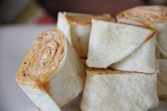 Pinwheels - My girlfriend Sarah makes these quite often because we looooooove them!  They are little tortilla pinwheels with this delicious salsa-cream cheese filling,  They are the perfect little appetizer...the perfect bite for girls' night.