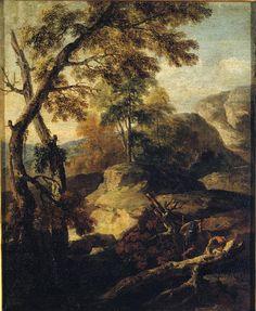 Ricci Marco - Paesaggio con alberi e boscaioli - 1735-1740 - Accademia Carrara di Bergamo Pinacoteca