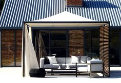 Kettal Structures seek to bring order, form and structure to outdoor areas, although functionally they are designed to provide shelter: to shade and cool or protect from the rain and wind. Garden Pavilion, Outdoor Pavilion, Outdoor Balcony, Outdoor Lounge, Outdoor Rooms, Outdoor Living, Outdoor Furniture, Outdoor Decor, Garden Furniture