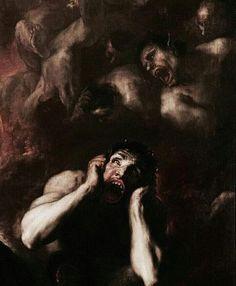 Discover ideas about pintura negra Kunst Inspo, Art Inspo, Arte Horror, Horror Art, Arte Dark Souls, Renaissance Kunst, Arte Obscura, Creepy Art, Classical Art