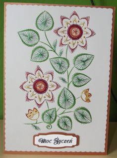 Embroidery Cards, Hand Embroidery Stitches, Cross Stitch Embroidery, Embroidery Patterns, Card Patterns, Stitch Patterns, String Art Diy, Art Carte, Pin Card