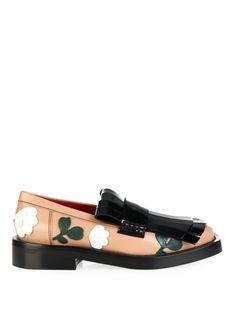 Fringe-front floral-appliqué loafers | Marni | MATCHESFASHION.COM UK | #MATCHESFASHION