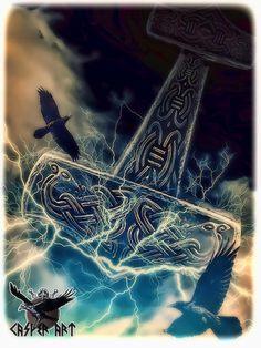 Thors Hammer by thecasperart on DeviantArt