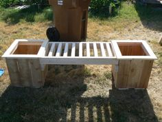 would be nice to make a couple of these.  Planter Box Bench