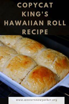Copycat King's Hawaiian Roll Recipe Top Recipes, Best Dessert Recipes, Fun Desserts, Sweet Recipes, Family Recipes, Delicious Recipes, Bread Recipes, Easy Recipes, Kid Favorite Recipe