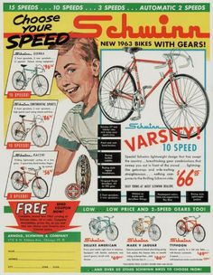 Schwinn Ad from 1963 #vintageads #Ads #vintage #PrintAd #tvads #advertising #BrandScience #influence #online #Facebook #submissions #marketing #advertising