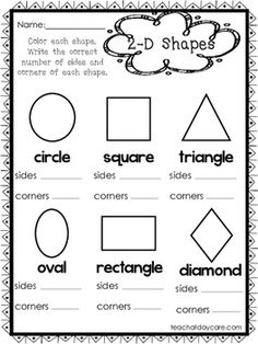 shapes number of sides number of corners worksheet printable worksheets shapes. Black Bedroom Furniture Sets. Home Design Ideas