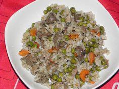 Zöldséges, rizses csirkemáj Ital Food, Empanadas, Pho, Fried Rice, Grains, Curry, Ethnic Recipes, Chef Recipes, Cooking