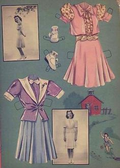 1940 Jane Withers paper doll clothes / picasaweb.google.com