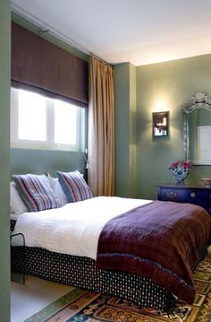 Olijfgroene muur | slaapkamer | Pinterest