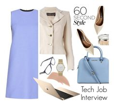 """60-Second Style: Tech Job Interview"" by ansev ❤ liked on Polyvore featuring Christian Dior, Jean-Louis Scherrer, Burberry, Michael Kors, Victoria, Victoria Beckham, Steve Madden, Bare Escentuals, Skagen, women's clothing and women's fashion"