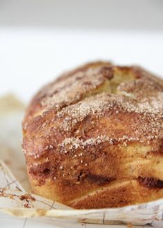 Cinnamon swirl banana bread, adapted recipe to g/f