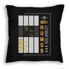 Interstellar Tars Art Print Pillow.