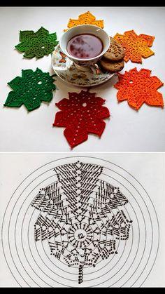Watch The Video Splendid Crochet a Puff Flower Ideas. Phenomenal Crochet a Puff Flower Ideas. Crochet Leaf Patterns, Crochet Leaves, Crochet Motifs, Crochet Diagram, Crochet Chart, Crochet Designs, Crochet Doilies, Crochet Flowers, Crochet Diy