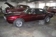 1967 Firebird in for gap alignments on the car.