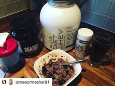 #Repost @aimeeormesher91 with @repostapp  Breakfast  All day everyday  @projectadofficial grazed super greens go to last weeks post to read up about this amazing supplement Chocolate & Blueberry Oats with a scoop of @phdnutritionuk diet whey  Black coffee & tbsp of coconut oil & cinnamon - coconut oil gives you energy! coconut oil is made up of MCTs (Medium Chain Triglycerides). MCTs are more rapidly absorbed by the body and are quickly metabolized as fuel (not stored as fat). Coconut Oil…