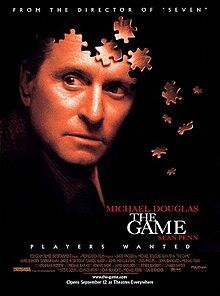 The Game is a 1997 thriller film directed by David Fincher, starring Michael Douglas and Sean Penn, and produced by PolyGram Filmed Entertainment. It tells the story of an investment banker who is given a mysterious gift: participation in a game that integrates in strange ways with his life. As the lines between the banker's real life and the game become more uncertain, hints of a large conspiracy become apparent.