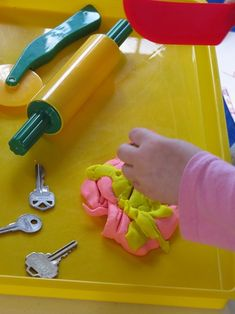 Props for play dough by Teach Preschool Teach Preschool, Preschool Classroom, Preschool Ideas, Snake Skin Pattern, Play Dough, Fine Motor Skills, Early Childhood, Color Mixing, Make Your Own