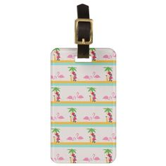 Minnie | Minnie's Tropical Pattern Bag Tag #disney #travel Gifts For Kids, Gifts For Women, Minnie Mouse Gifts, Office Essentials, Tropical Pattern, Custom Luggage Tags, Luggage Straps, Standard Business Card Size, Leather Luggage