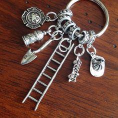 Car Accessories, Rearview Mirror Charm, Fireman Keychain ...