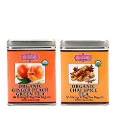 ... Chai Spice & Ginger Peach Green Tea Set by Brew La La Tea #zulilyfinds
