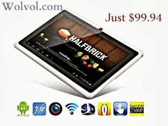 Ultra thin Tablet WHITE Trendy Color with TOUCH SCREEN Feature and Built in CAMERA.   #tablet #touchscreen