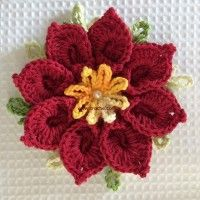 Flor-natalina-passo-a-passo-210-200x200 Thread Crochet, Crochet Granny, Irish Crochet, Afghan Patterns, Crochet Patterns, Crochet Christmas Ornaments, Crochet Blouse, Crochet Videos, Flower Tutorial
