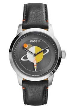Fossil 'Townsman' Planet Graphic Dial Leather Strap Watch, 40mm (Limited Edition) | Nordstrom