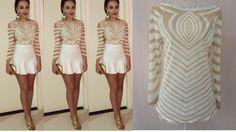 a Foto Real, Aliexpress, Ideias Fashion, Mini, Dresses, White Women's Hoodies, Pictures, Vestidos, Dress