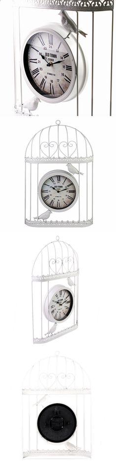 ML-1481 White Часы настенные Клетка Размеры: 34.5x5x53.5 см. Household, Clock, Watch, Clocks