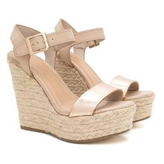 Endless Summer Espadrille Wedges found on Polyvore featuring polyvore, women's fashion, shoes, sandals, wedges, wedge sole shoes, summer sandals, wedge shoes, summer espadrilles and wedge heel shoes #sandalsheelssummer #sandalsheelswedge