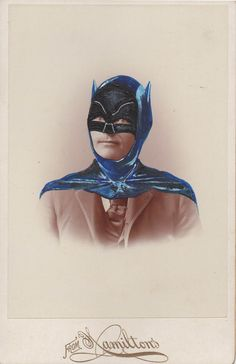 Altered Cabinet Card Photo from the 1880's.http://art.thecoldcoldground.com/art/wp-content/uploads/2011/12/Batman.jpeg