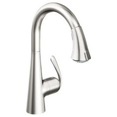 Grohe 32 298 Ladylux Café Main Sink Dual Spray Pull-Down Kitchen Faucet (RealSteel Stainless Steel) in Touch On Kitchen Sink Faucets. Kitchen Faucet Reviews, Kitchen Mixer Taps, Kitchen Sink Faucets, Kitchen Fixtures, Sinks, Kitchen Appliances, Plumbing Fixtures, Bathroom Taps, Bathroom Ideas