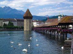 Chapel Bridge, Luzern, Switzerland.