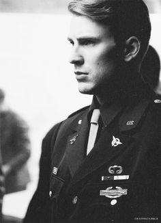 Captain America, man in uniform, plus comic book hero... yeah couldn't get better
