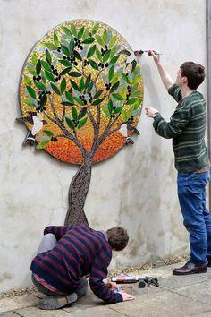 Mosaic Artwork, Mosaic Wall Art, Tile Art, Mosaic Mirrors, Mosaic Crafts, Mosaic Projects, Mosaic Ideas, Mosaic Designs, Mosaic Patterns