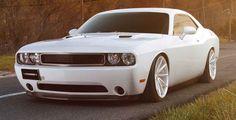 White Dodge Challenger