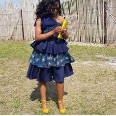 African Print Wedding Dress, African Print Dresses, African Fashion Dresses, African Dress, African Prints, Setswana Traditional Dresses, African Traditional Wedding, African Attire, African Wear
