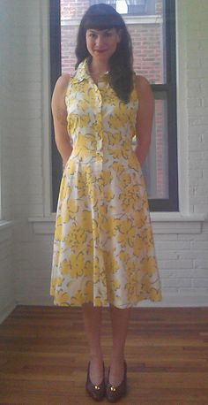 1980s Floral Shirtwaist Dress by LittleSusieVintage on Etsy, $36.00