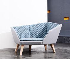 "#geometric #modern ""Frigg"" #sofa by Marianne Kleis"