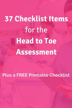 78 best nursing documentation images on pinterest health nursing 37 checklist items to begin the nursing head to toe assessment fandeluxe Image collections
