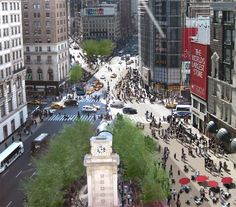 Herald Square is formed by the intersection of Broadway, Sixth Avenue and 34th Street in the borough of Manhattan in New York City.