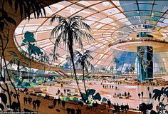 1962... concept sketch: proposed Los-Angeles International Airport - William Pereira and Charles Luckman | Flickr -