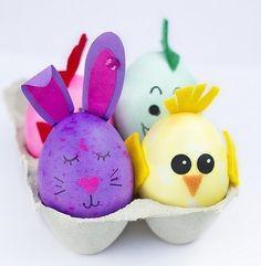 Huevos de Pascua: Fotos de modelos para decorar Easter Party, Easter Gift, Happy Easter, Easter Activities, Craft Activities For Kids, Easter Crafts For Kids, Diy For Kids, Easter Cookies, Egg Decorating