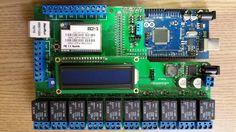 Shield Automação e Alarme Residencial V5 com Arduino Mega.