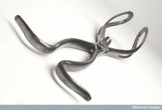 A set of obstetrical forceps, 18th Century. L0036276 Credit: Wellcome Library, London